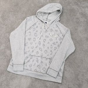 White + Grey Leppard Hoodie